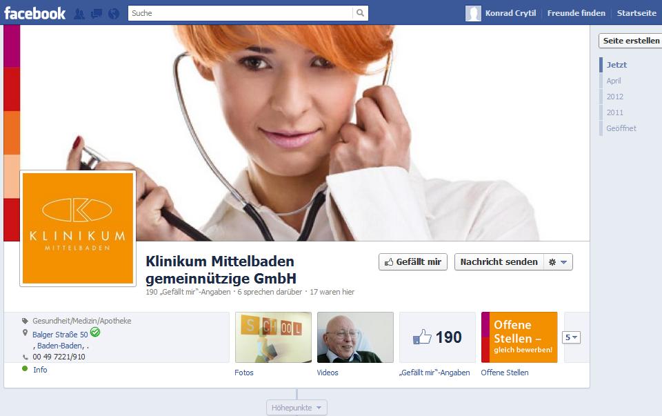 Facebook Klinikum Mittelbaden