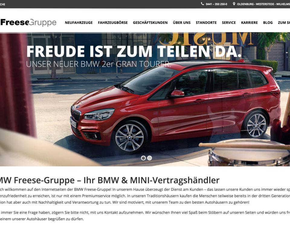 New website for Freese-Gruppe